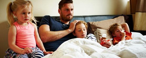 Les soins familiaux durant la saison grippale